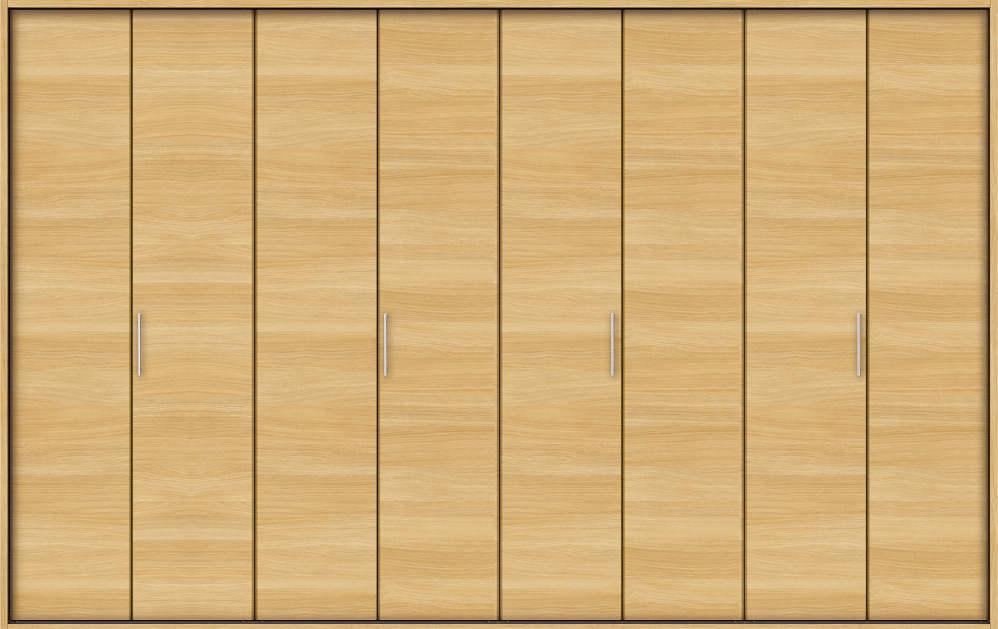 YKKAP収納 クローゼットドア 4枚折戸 木目横YA ノンケーシング枠[四方枠]:[幅3246mm×高2045mm]