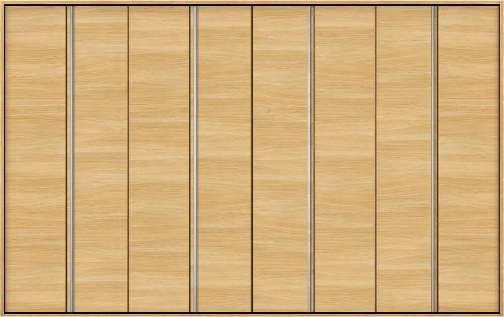 YKKAP収納 クローゼットドア 4枚折戸 木目横Y30 ケーシング枠[四方枠]:[幅3246mm×高2045mm]