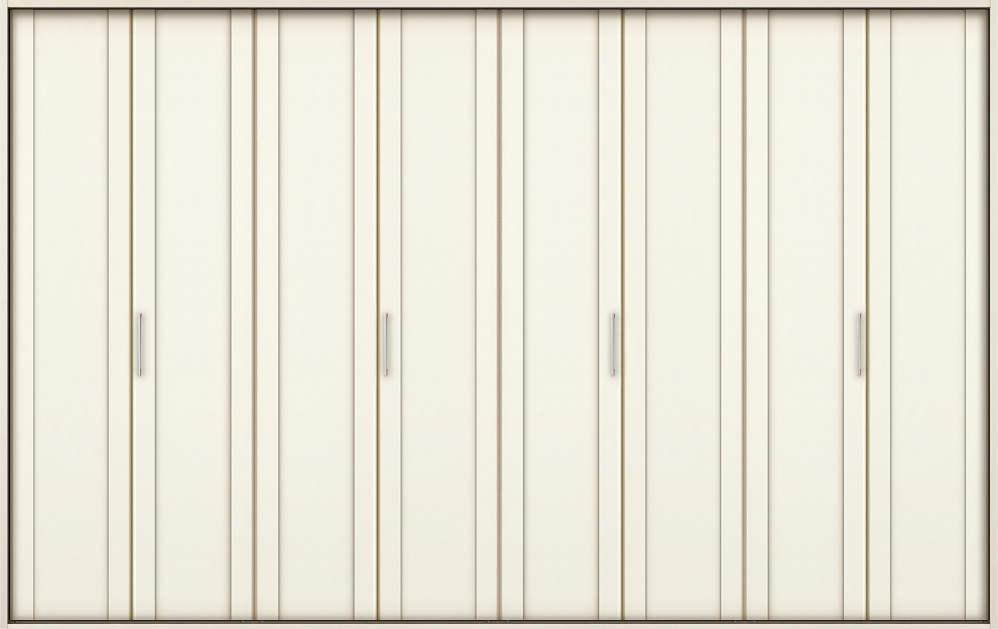 YKKAP収納 クローゼットドア 4枚折戸 JA ノンケーシング枠[三方枠]:[幅3246mm×高2333mm]