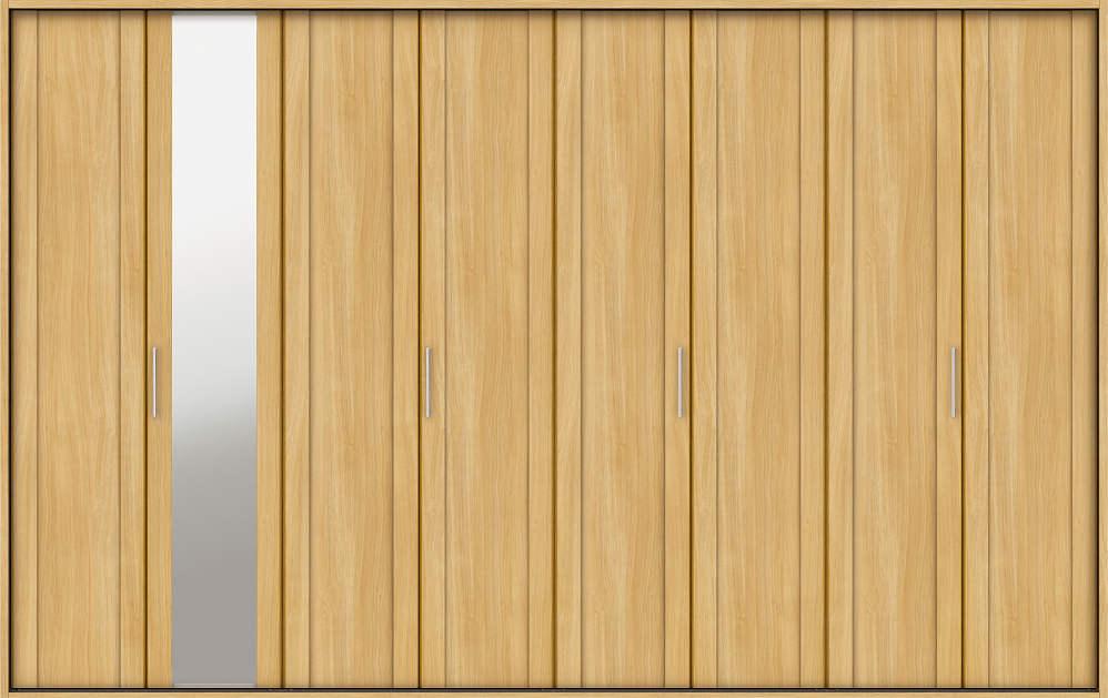 YKKAP収納 クローゼットドア 4枚折戸 JM ノンケーシング枠[三方枠]:[幅3246mm×高2033mm]