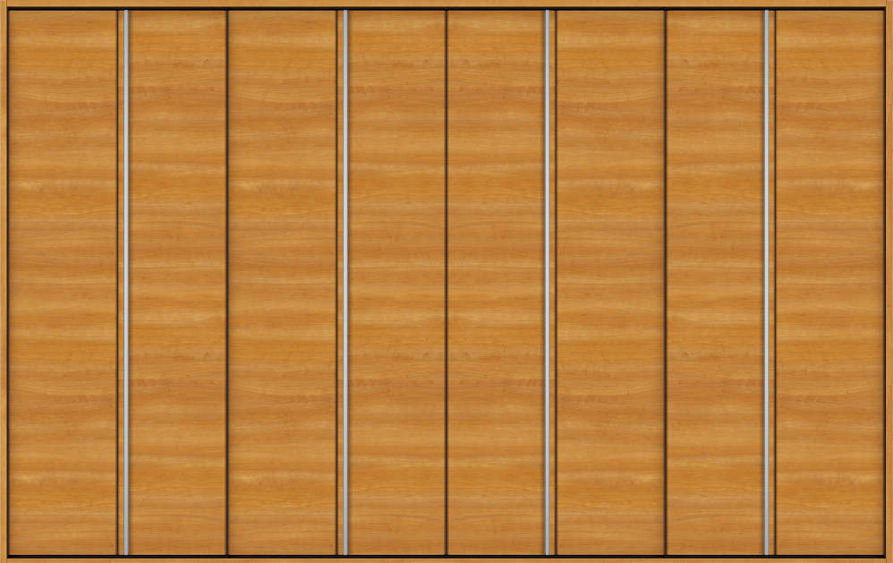 YKKAP収納 クローゼットドア 4枚折戸 木目横Y30 ノンケーシング枠[三方枠]:[幅3246mm×高2033mm]