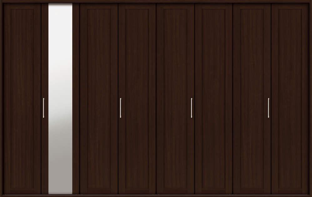 YKKAP収納 クローゼットドア 4枚折戸 NM ケーシング[三方枠]:[幅3246mm×高2333mm]