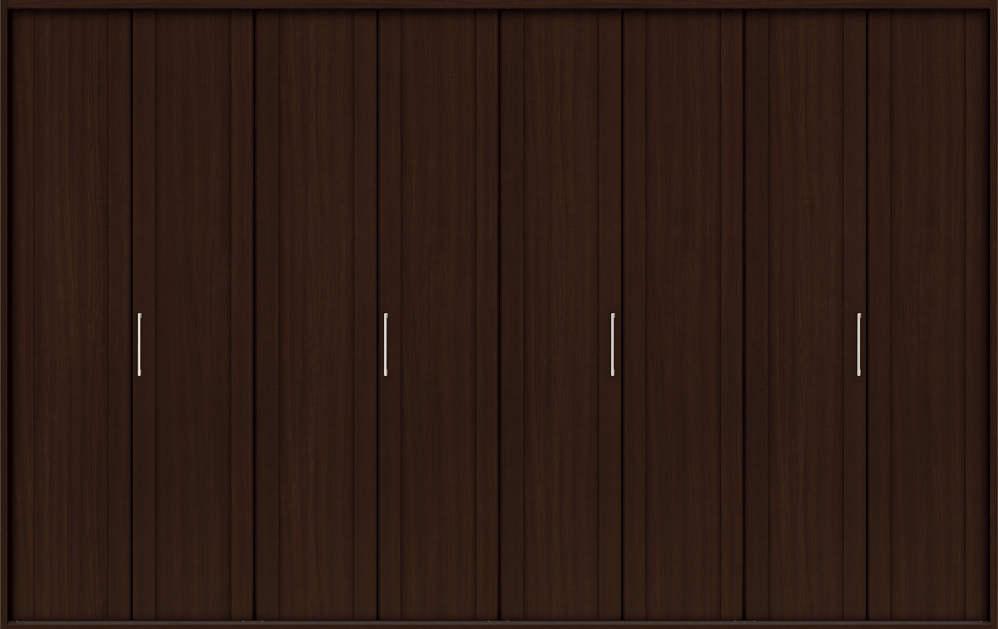 YKKAP収納 クローゼットドア 4枚折戸 JA ケーシング[三方枠]:[幅3246mm×高2333mm]
