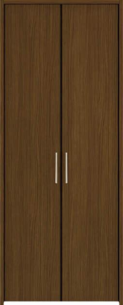 YKKAP収納 クローゼットドア 両開き戸 木目たてTA ノンケーシング枠[四方枠]:[幅823mm×高2345mm]