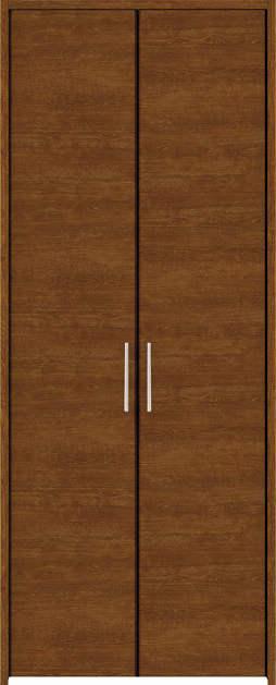 YKKAP収納 クローゼットドア 両開き戸 木目横YA ノンケーシング枠[四方枠]:[幅1188mm×高2345mm]