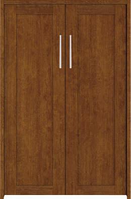 YKKAP収納 クローゼットドア 両開き戸 NA ノンケーシング枠[四方枠]:[幅1188mm×高1245mm]