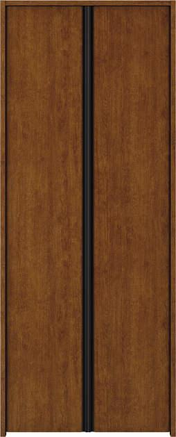 YKKAP収納 クローゼットドア 両開き戸 木目たてT30 ノンケーシング枠[四方枠]:[幅733mm×高2045mm]
