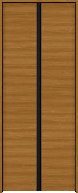 YKKAP収納 クローゼットドア 両開き戸 木目横Y30 ノンケーシング枠[四方枠]:[幅823mm×高2345mm]