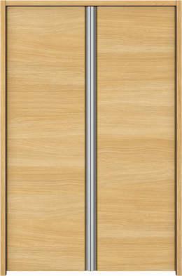 YKKAP収納 クローゼットドア 両開き戸 木目横Y30 ノンケーシング枠[四方枠]:[幅823mm×高1245mm]