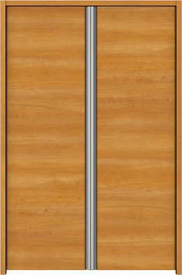 YKKAP収納 クローゼットドア 両開き戸 木目横Y30 ケーシング枠[四方枠]:[幅733mm×高945mm]