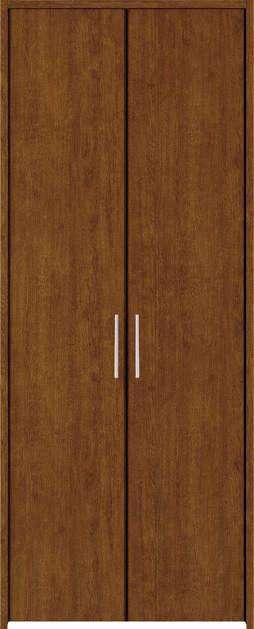 YKKAP収納 クローゼットドア 両開き戸 木目たてTA ケーシング枠[四方枠]:[幅1188mm×高2045mm]
