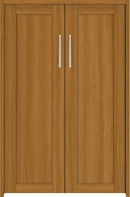 YKKAP収納 クローゼットドア 両開き戸 NA ケーシング枠[四方枠]:[幅1188mm×高945mm]