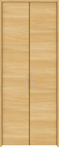 YKKAP収納 クローゼットドア 両開き戸 木目横YA ケーシング枠[四方枠]:[幅1188mm×高1845mm]