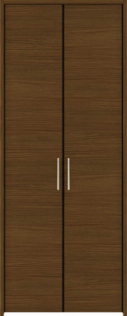 YKKAP収納 クローゼットドア 両開き戸 木目横YA ケーシング枠[四方枠]:[幅1188mm×高2345mm]
