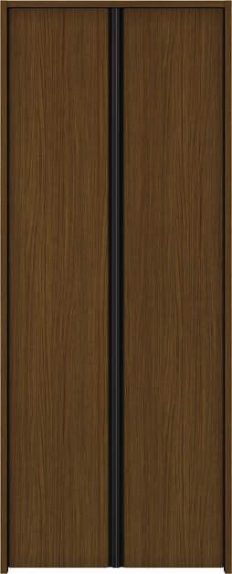 YKKAP収納 クローゼットドア 両開き戸 木目たてT30 ノンケーシング枠[三方枠]:[幅823mm×高2333mm]