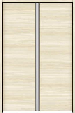 YKKAP収納 クローゼットドア 両開き戸 木目横Y30 ノンケーシング枠[三方枠]:[幅733mm×高1233mm]