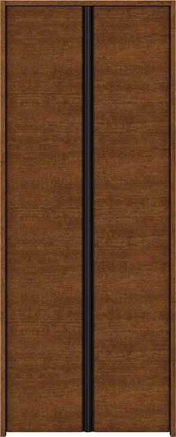 【★超目玉】 両開き戸 木目横Y30 クローゼットドア ノンケーシング枠[三方枠]:[幅823mm×高2033mm]:ノース&ウエスト YKKAP収納-木材・建築資材・設備