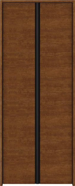 YKKAP収納 クローゼットドア 両開き戸 木目横Y30 ノンケーシング枠[三方枠]:[幅1188mm×高1833mm]