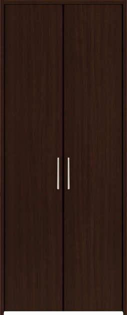 YKKAP収納 クローゼットドア 両開き戸 木目たてTA ノンケーシング枠[三方枠]:[幅733mm×高2033mm]