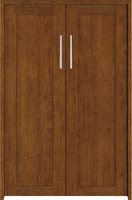 YKKAP収納 クローゼットドア 両開き戸 NA ノンケーシング枠[三方枠]:[幅1188mm×高1233mm]