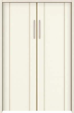 YKKAP収納 クローゼットドア 両開き戸 JA ノンケーシング枠[三方枠]:[幅733mm×高1233mm]