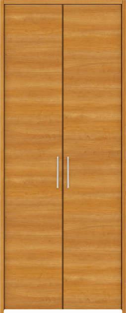 YKKAP収納 クローゼットドア 両開き戸 木目横YA ノンケーシング枠[三方枠]:[幅733mm×高1833mm]