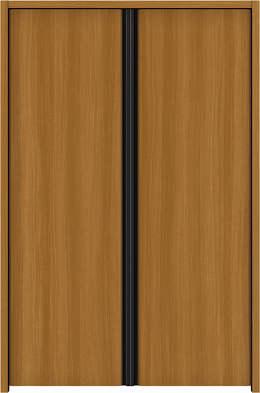 YKKAP収納 クローゼットドア 両開き戸 木目たてT30 ケーシング[三方枠]:[幅823mm×高933mm]