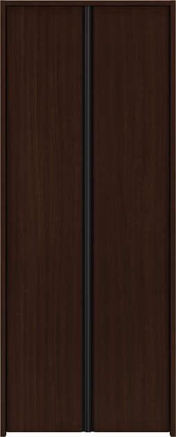 YKKAP収納 クローゼットドア 両開き戸 木目たてT30 ケーシング[三方枠]:[幅1188mm×高1833mm]