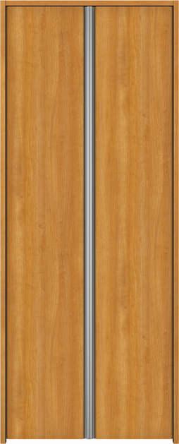 YKKAP収納 クローゼットドア 両開き戸 木目たてT30 ケーシング[三方枠]:[幅733mm×高2333mm]