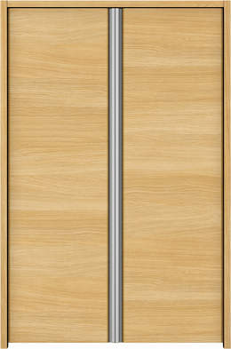 YKKAP収納 クローゼットドア 両開き戸 木目横Y30 ケーシング[三方枠]:[幅823mm×高933mm]