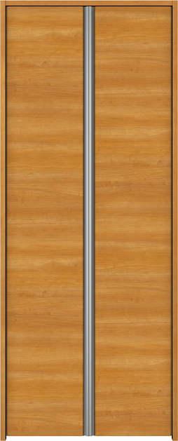 YKKAP収納 クローゼットドア 両開き戸 木目横Y30 ケーシング[三方枠]:[幅823mm×高2033mm]