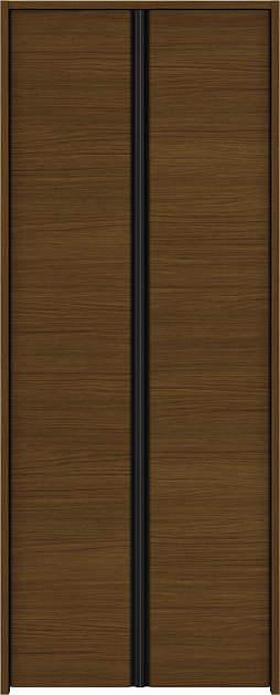 YKKAP収納 クローゼットドア 両開き戸 木目横Y30 ケーシング[三方枠]:[幅1188mm×高2333mm]