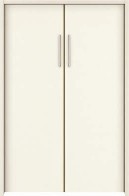 YKKAP収納 クローゼットドア 両開き戸 木目たてTA ケーシング[三方枠]:[幅823mm×高1233mm]