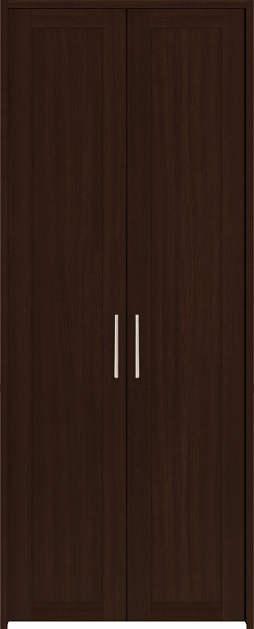 YKKAP収納 クローゼットドア 両開き戸 NA ケーシング[三方枠]:[幅733mm×高2333mm]