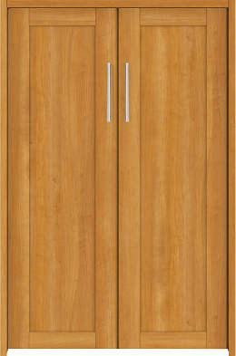 YKKAP収納 クローゼットドア 両開き戸 NA ケーシング[三方枠]:[幅823mm×高933mm]