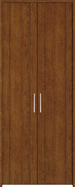 YKKAP収納 クローゼットドア 両開き戸 JA ケーシング[三方枠]:[幅733mm×高2333mm]