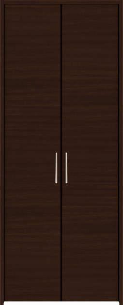 YKKAP収納 クローゼットドア 両開き戸 木目横YA ケーシング[三方枠]:[幅1188mm×高2333mm]