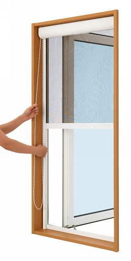 YKKAPオプション窓サッシ装飾窓フレミングJ:上げ下げロールクリアネット網戸[幅678mm×高893mm]