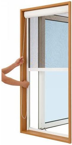 YKKAPオプション窓サッシ装飾窓エピソード:上げ下げロール網戸[幅588mm×高693mm]