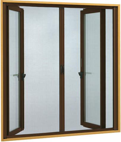 YKKAPオプション 窓サッシ 装飾窓 フレミングJ:横引きロールクリアネット網戸[両引き][幅1135mm×高896mm]