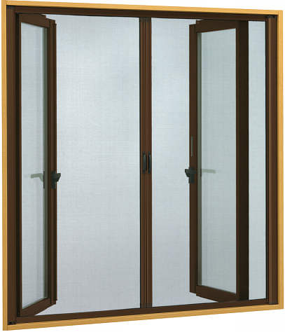 YKKAPオプション 窓サッシ 装飾窓 フレミングJ:横引きロール網戸[両引き][幅1185mm×高1296mm]