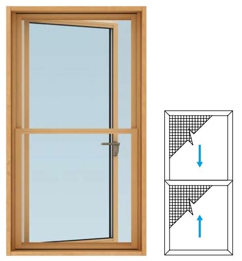 YKKAPオプション 窓サッシ 装飾窓 エピソードNEO:上げ下げ網戸[たてすべり出し窓用][幅738mm×高900mm]