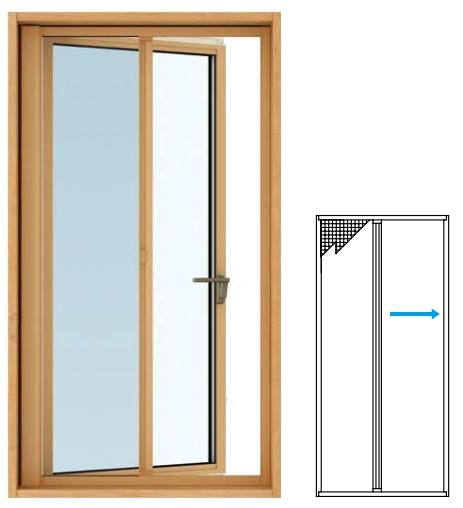 YKKAPオプション 窓サッシ 装飾窓 エピソードNEO:横引きロール網戸[たてすべり出し窓用]