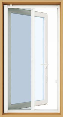 YKKAPオプション 窓サッシ 装飾窓 エピソードNEO:横引きロールクリアネット網戸[両袖たてすべり出し窓用]