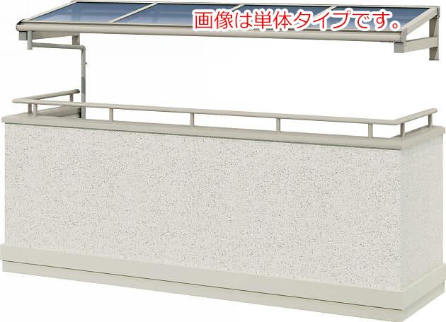YKKAPウォールエクステリア テラス屋根 持ち出し屋根ヴェクター 600N/[フラット型][メーターモジュール] 二尺[奥行:570mm][張り出しなし]:2連結タイプ(2間+2間)[幅8000mm]
