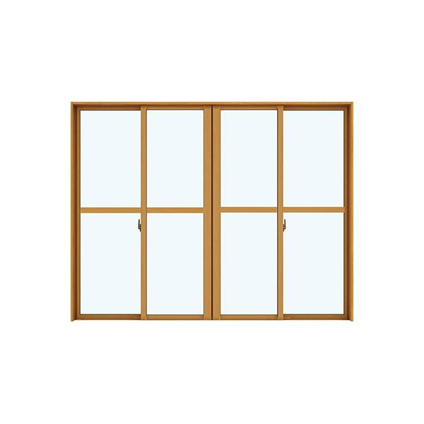 YKKAP窓サッシ 引き違い窓 エピソードNEO[複層ガラス] 4枚建 半外付型[中桟付]:[幅2550mm×高2030mm]