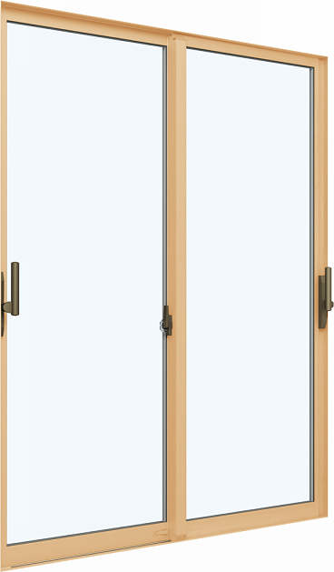YKKAP窓サッシ 引き違い窓 エピソードNEO[複層ガラス] 2枚建 半外付型[サポート把手付]:[幅1800mm×高2030mm]