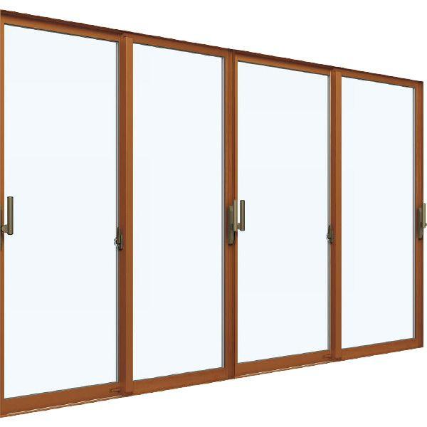 YKKAP窓サッシ 引き違い窓 エピソードNEO[複層ガラス] 4枚建 半外付型[サポート把手付]:[幅2600mm×高1830mm]