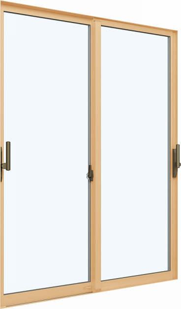 YKKAP窓サッシ 引き違い窓 エピソードNEO[複層ガラス] 2枚建 2×4工法[サポート把手付]:[幅1820mm×高2045mm]