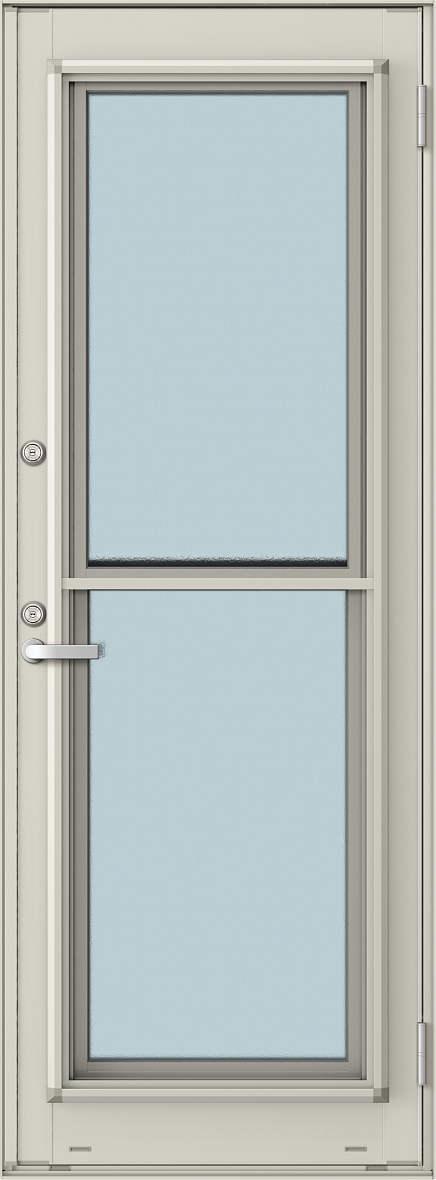 YKKAP勝手口 通風ドア エピソード仕様 複層ガラス[2シリンダー仕様] 一本格子[2×4工法][単純段差下枠仕様]:[幅640mm×高2060mm]